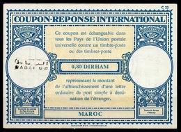 MAROC / MOROCCO Lo17 0,80 DIRHAM InternationalReply Coupon ReponseAntwortscheinIAS IRCo RABAT RP - Marokko (1956-...)