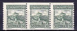 Tchécoslovaquie 1926 Mi 246 B (Yv 222), (MNH)** Bande De 3 - Czechoslovakia