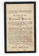 DP Franciscus Derboven Geb.Booischot 1893,gestorven Booischot 1910 - Religion & Esotérisme