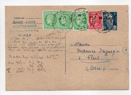 - Carte Postale ORTHOPÉDIE-CORSETS JUNOD-ROZIER, NIMES Pour TISSAGES DUGUEY, FLERS (Orne) 12.4.1949 - - Entiers Postaux