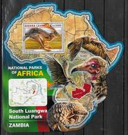 SIERRA LEONE BF 962  * *  ( Cote 20e )  Parc Zambie Lievre Lapins Vautour Pangolin - Conigli