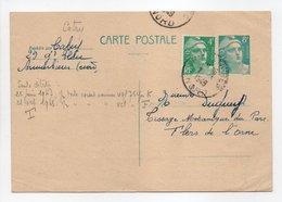- Carte Postale MAISON CATRY, ARMENTIÈRES (Nord) Pour TISSAGES DUGUEY, FLERS (Orne) 5.4.1949 - - Entiers Postaux
