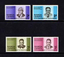 SAMOA    1967    5th  Anniv  Of  Independence    Set  Of  4    MNH - Samoa