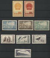 CHINA / CHINE 1951/1952 N° 909 + 911 + 929B + 929C + 929D + 944 + 945 + 946 + 955. Value/Cote : 26 € - Neufs
