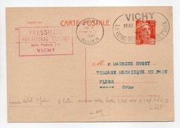 - Carte Postale MAISON FRESSINET, VICHY Pour TISSAGES DUGUEY, FLERS (Orne) 21.9.1951 - 12 F. Orange Marianne De Gandon - - Standard Postcards & Stamped On Demand (before 1995)