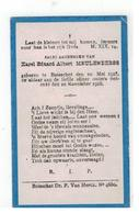 DP Karel Eduard Albert MEULENBERGS Geb.Booischot 1918 ,gestorven Booischot 1918 - Religion & Esotérisme