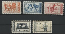 CHINA / CHINE 1953 N° 985 + 986 + 987 + 992 + 994. Value/Cote : 14.6 € - Neufs