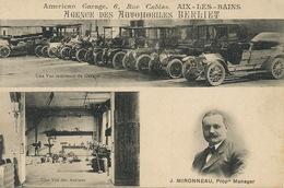 Automobiles Berliet à Aix Les Bains  Atelier . Manager J. Mironneau - Voitures De Tourisme