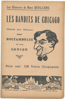 CHANSON De René DEVILLIERS - Les Bandits De Chicago - Partitions Musicales Anciennes