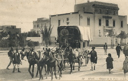 Attelage Diligence De La Poste à Sfax Tunisie . 6 Chevaux .  Envoi à Berti . Dette Marocaine Tanger . Leger Defaut - Taxi & Carrozzelle