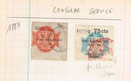 Consular Service  Old Revenues Anciens Fiscaux - Revenue Stamps