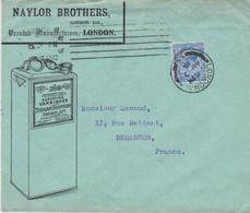 Enveloppe Illustrée Naylor Brothers Varnish Manufacturers London Superfine Varnishes YT 413 CAD London Au 7 1913 - 1902-1951 (Kings)