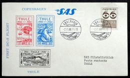 First SAS DC - 8 Flight Copenhagen - Thule 1966 ( Lot 222 ) - Brieven En Documenten