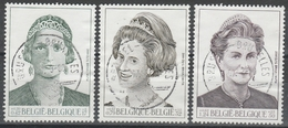 2879/2881 La  Dynastie Belges/ Belgische Koninginnen Gestp/oblit Centrale - Belgio