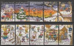 3101/3110 Noel Et Nouvel An /Kerst En Nieuwjaar Oblit/gestp - Belgio