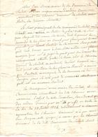 Vieux Papier Du Béarn, Sendets, 1827, Procès-verbal Du Maire Junca, Entretien Des Chemins Vicinaux, Mauro Contre Prat - Historische Documenten