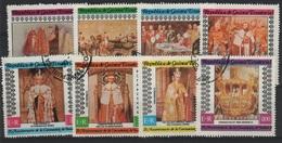 HC 79 - GUINEE EQUATORIALE Série De 8 Val. Obl. Couronnement Des Rois D'Angleterre - Guinée Equatoriale