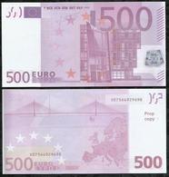 BILLET FACTICE DE 500€00 . CINEMA  . JEUX . - Fictifs & Spécimens