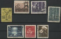 CHINA / CHINE 1958 N° 1153 + 1163 + 1172 + 1174 + 1175 + 1177 + 1179. Value/Cote : 6.7 € - 1949 - ... République Populaire