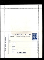 LTR1 Carte Lettre Neuve Franchise Militaire Général Joffre. - Marcophilie (Lettres)