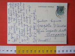 PC.4 ITALIA CARTOLINA POSTALE - 1953 SIRACUSANA £ 20 SCRITTA A DESTRA DA TIGLIOLE ASTI 1954 X BORGOSESIA VERCELLI - 6. 1946-.. Repubblica