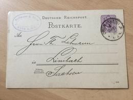 K8 Deutsches Reich Ganzsache Stationery Entier Postal P 12/02 Von Köln - Germany