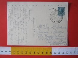 PC.4 ITALIA CARTOLINA POSTALE - 1953 SIRACUSANA £ 20 SCRITTA ALTO DA BORGOSESIA VERCELLI X MILANO 1954 - 6. 1946-.. Repubblica