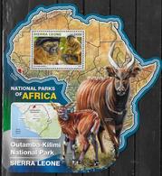 SIERRA LEONE BF 952  * *  ( Cote 20e )  Parc Sierra Leone Singes Antilope - Scimmie