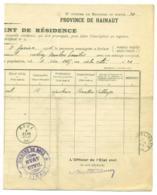 Changement Résidence 1904. Roux  Bersillies Obl. Roux Erquelinnes. Guerlinze. - Marcophilie