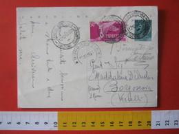 PC.4 ITALIA CARTOLINA POSTALE - 1953 SIRACUSANA £ 20 SCRITTA ALTO + FR. ESPRESSO DA GENOVA STAZIONE BRIGNOLE BORGOSESIA - 6. 1946-.. Repubblica