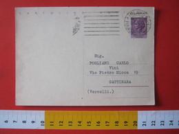 PC.4 ITALIA CARTOLINA POSTALE - 1956 SIRACUSANA £ 25 SCRITTA ALTO DA MILANO MECCANICO TIPO 1 LINEARE - 6. 1946-.. Repubblica