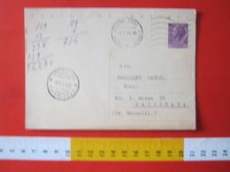 PC.4 ITALIA CARTOLINA POSTALE - 1956 SIRACUSANA £ 25 SCRITTA ALTO DA MILANO MECCANICO TIPO 2 ONDULATO - 6. 1946-.. Repubblica