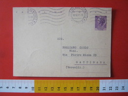 PC.4 ITALIA CARTOLINA POSTALE - 1956 SIRACUSANA £ 25 SCRITTA ALTO DA MILANO 1963 MECCANICO TIPO 3 ONDULATO - 6. 1946-.. Repubblica