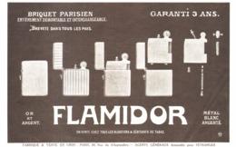 """PUB BRIQUETS    """" FLAMIDOR  """"    1912  ( 3 ) - Andere"""