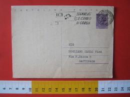 PC.4 ITALIA CARTOLINA POSTALE - 1956 SIRACUSANA £ 25 SCRITTA ALTO DA MILANO 1961 Targhetta SEGNALATE IL CAMBIO DI CORSIA - 6. 1946-.. Repubblica