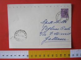 PC.4 ITALIA CARTOLINA POSTALE - 1956 SIRACUSANA £ 25 SCRITTA ALTO DA MOSSO S. MARIA BIELLA VERCELLI 1960 - 6. 1946-.. Repubblica