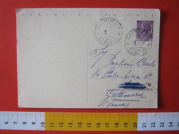 PC.4 ITALIA CARTOLINA POSTALE - 1956 SIRACUSANA £ 25 SCRITTA ALTO DA BALMUCCIA VALSESIA VERCELLI Corretto A Mano - 6. 1946-.. Repubblica