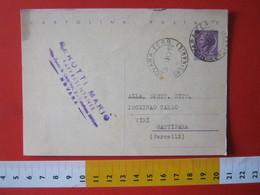 PC.4 ITALIA CARTOLINA POSTALE - 1956 SIRACUSANA £ 25 SCRITTA ALTO DA NOVARA FERROVIA 1963 RAPPRESENTANTE VINO WINE - 6. 1946-.. Repubblica