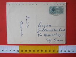PC.4 ITALIA CARTOLINA POSTALE - 1954 SIRACUSANA PRO ERARIO £ 20 SCRITTA IN ALTO TASSE TAX CAPACITA CONTRIBUTIVA - 6. 1946-.. Repubblica
