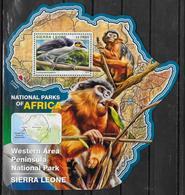 SIERRA LEONE BF 958  * *  ( Cote 20e )  Parc Sierra Leone Oiseaux Singes - Vogels