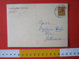 PC.4 ITALIA CARTOLINA POSTALE - 1966 SIRACUSANA £ 30 SCRITTA SINISTRA DA VEGLIO MOSSO BIELLA VERCELLI Annullo 1 1967 - 6. 1946-.. Repubblica