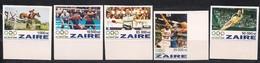Zaire 1996 Ocbn° 1492-1496 ND Ongetand*** MNH Cote 22€ Jeux Olympiques Atlanta Olympische Spelen - Zaïre