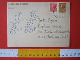 PC.4 ITALIA CARTOLINA POSTALE - 1966 SIRACUSANA £ 30 SCRITTA SINISTRA DA VEGLIO MOSSO BIELLA VERCELLI Annullo 2 1969 - 6. 1946-.. Repubblica