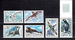 TAAF N° 55 à 60   NEUFS SANS CHARNIERE COTE 80.00€   OISEAUX  ANIMAUX - Unused Stamps