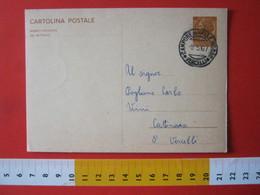 PC.4 ITALIA CARTOLINA POSTALE - 1966 SIRACUSANA £ 30 SCRITTA SINISTRA DA CAMPORE DI VALLE MOSSO BIELLA VERCELLI 1967 - 6. 1946-.. Repubblica