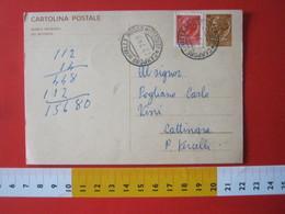 PC.4 ITALIA CARTOLINA POSTALE 1966 SIRACUSANA £ 30 SCRITTA SINISTRA DA CAMPORE DI VALLE MOSSO BIELLA VERCELLI + FR. 1969 - 6. 1946-.. Repubblica