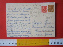 PC.4 ITALIA CARTOLINA POSTALE 1966 SIRACUSANA £ 30 RISPOSTA DA MONTERCHI AREZZO MONASTERO X TORINO 1968 - 6. 1946-.. Repubblica