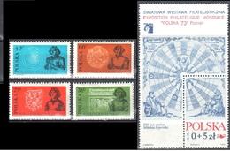 Poland 1972 Nicolaus Copernicus - Mi 2182-85+ms 52 - MNH(**) - Postfrisch - Nuevos