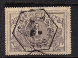 BELGIQUE BELGIE BELGIO BELGIUM 1882 1894 SERVICE PARCEL POST RAILWAY STAMPS 1fr USED OBLITERE' - Dienstpost