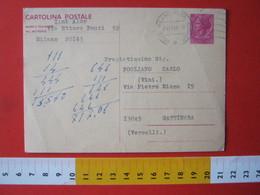 PC.4 ITALIA CARTOLINA POSTALE 1967 SIRACUSANA £ 40 DA MILANO 1969 Annullo Meccanico ONDULATO TIPO 1 - 6. 1946-.. Repubblica